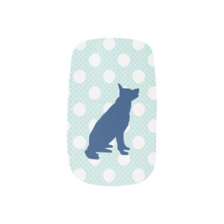 Schäferhund-Nagel-Kunst Minx Nagelkunst