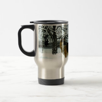 Schäferhund-Pendler-Kaffee-Tasse Edelstahl Thermotasse