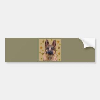 Schäferhund-Soldat-Kunst Autoaufkleber