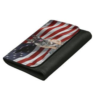 Schäferhund USA - patriotischer Hund - USA-Flagge
