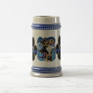 Schäferhund verdünnen Blue Line Bierglas