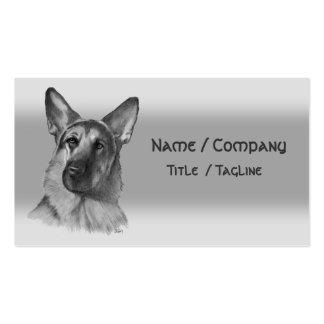 Schäferhund Visitenkarten