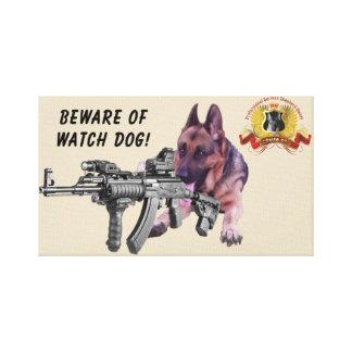 Schäferhund-Wachhund Leinwanddruck