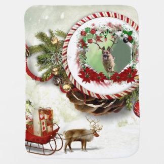 Schäferhund-Weihnachten Babydecke