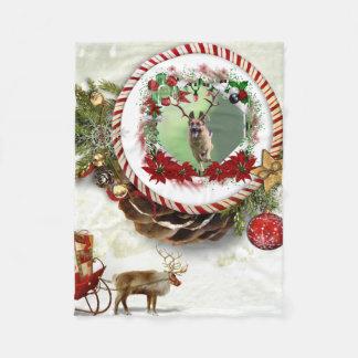 Schäferhund-Weihnachten Fleecedecke