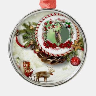 Schäferhund-Weihnachten Silbernes Ornament