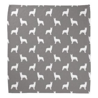 Schäferhund-weiße Silhouetten auf Tauben-Grau Kopftuch