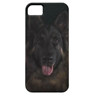 Schäferhundhundeporträt/-elsässer iPhone 5 Etui