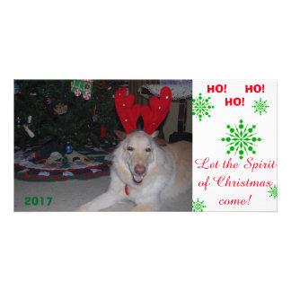 Schäferhundkarte der frohen Weihnacht-GSD lustig Karte