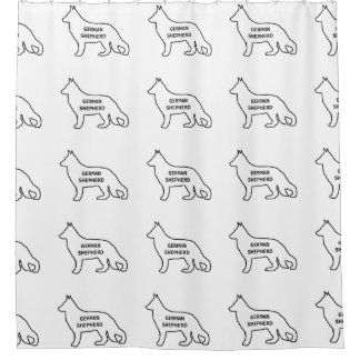 Schäferhundnamensiloweiß Duschvorhang