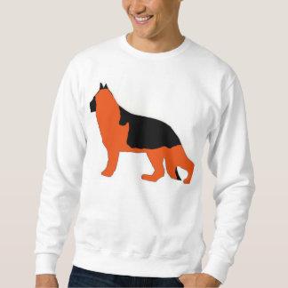 Schäferhundsiloschwarzes und -ROT Sweatshirt