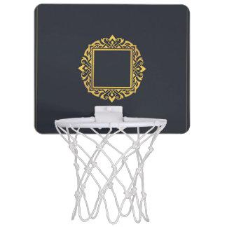 Schaffen Sie, das Monogramm-elegante graue Gold zu Mini Basketball Netz