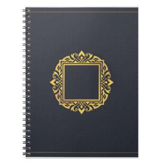 Schaffen Sie, das Monogramm-elegante graue Gold zu Notizblock