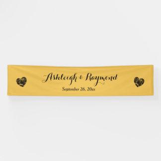Schaffen Sie ein Gold der Hochzeits-Fahnen-A7 und Banner