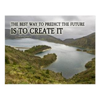 Schaffen Sie es Zitat auf Fotografie Postkarte