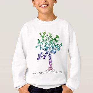Schaffen Sie Farbbaum-Linien Sweatshirt