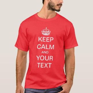 Schaffen Sie,/fertigen Sie Ihre Selbst behalten T-Shirt