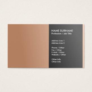 Schaffen Sie Ihr eigenes berufliches elegantes Visitenkarte