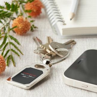 Schaffen Sie Ihr eigenes Foto-Gewohnheits-Rechteck Schlüsselanhänger