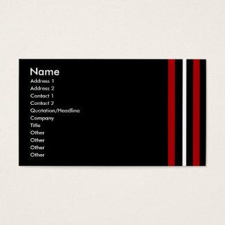 Schaffen Sie Ihr eigenes Geschäfts-Karten-rotes Visitenkarte