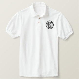 Schaffen Sie Ihr eigenes gesticktes Monogramm-Polo Polohemd