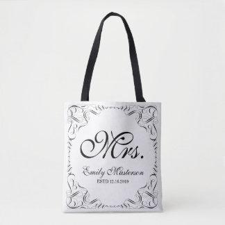 Schaffen Sie Ihr eigenes Monogramm Herr-Frau His Tasche
