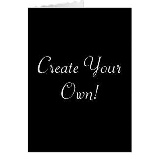 Schaffen Sie Ihr eigenes Schwarzes Grußkarte