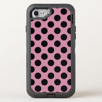 Schaffen Sie Ihr eigenes schwarzes Tupfen-Muster OtterBox Defender iPhone 8/7 Hülle