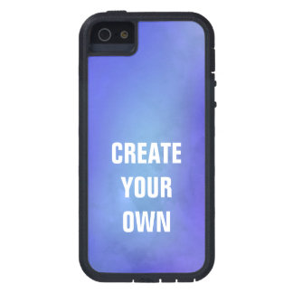 Schaffen Sie Ihre eigene blaue Aquarell-Malerei iPhone 5 Etui