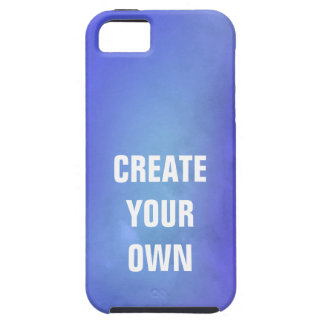 Schaffen Sie Ihre eigene blaue Aquarell-Malerei iPhone 5 Schutzhülle