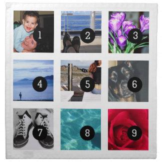 Schaffen Sie Ihre eigene Foto-Art mit 9 Bildern Stoffserviette