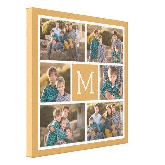 Schaffen Sie Ihre eigene Foto-Collage - 6 Fotos Leinwanddruck