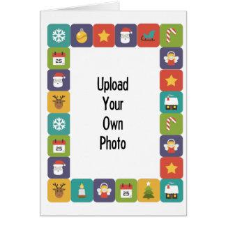 Schaffen Sie Ihre eigene Foto-Karten-helle Karte