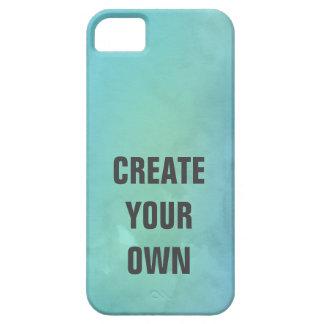 Schaffen Sie Ihre eigene Türkis-Aquarell-Malerei Barely There iPhone 5 Hülle