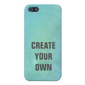 Schaffen Sie Ihre eigene Türkis-Aquarell-Malerei iPhone 5 Etuis