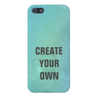 Schaffen Sie Ihre eigene Türkis-Aquarell-Malerei iPhone 5 Schutzhüllen