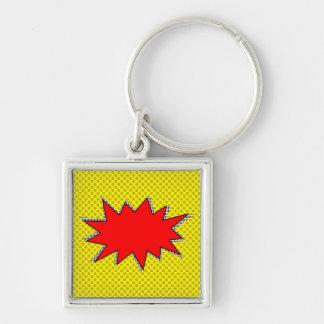 Schaffen Sie Ihre eigenen SuperheldOnomatopoeias! Schlüsselanhänger