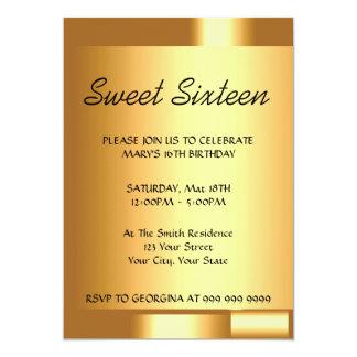 Schaffen Sie Ihre Goldeinladung des Bonbon-16 12,7 X 17,8 Cm Einladungskarte