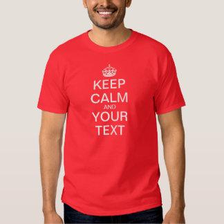 """Schaffen Sie Ihre Selbst """"behalten Ruhe u. T Shirt"""