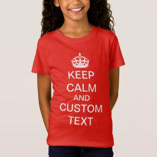 Schaffen Sie Ihre Selbst behalten Ruhe und T-Shirt