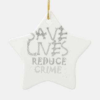 Schaffen Sie Ihre Selbst retten die Leben Keramik Ornament