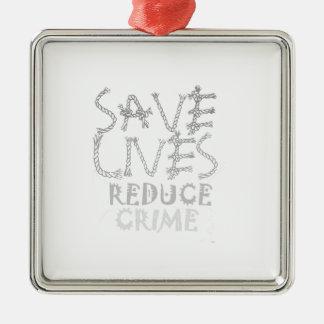 Schaffen Sie Ihre Selbst retten die Leben Silbernes Ornament
