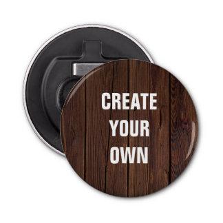 Schaffen Sie Ihren eigenen hölzernen Boden-Blick Runder Flaschenöffner