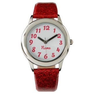 Schaffen Sie Ihren eigenen roten personalisierten Uhr