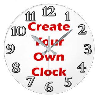 Schaffen Sie Ihren eigenen Uhr-Entwurf Große Wanduhr