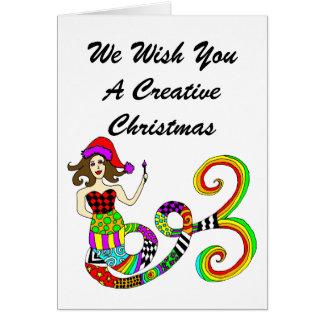 Schaffen Sie kreatives Weihnachten Karte