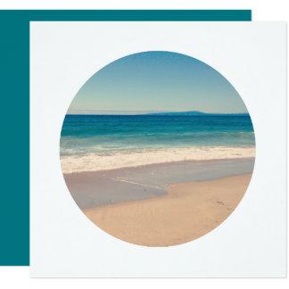 Schaffen Sie Kreis-Foto-Weiß-Grenze Quadratische 13,3 Cm Einladungskarte