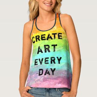 Schaffen Sie Kunst jeden Tag Painterly Tanktop