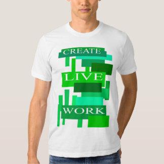 Schaffen Sie Livearbeit Hemd