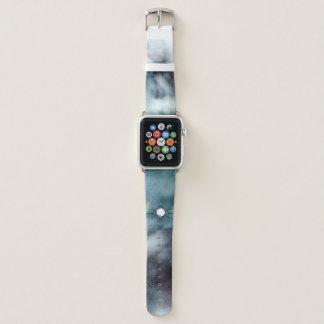 Schaffen Sie, nebelhaften blauen Watercolor zu Apple Watch Armband